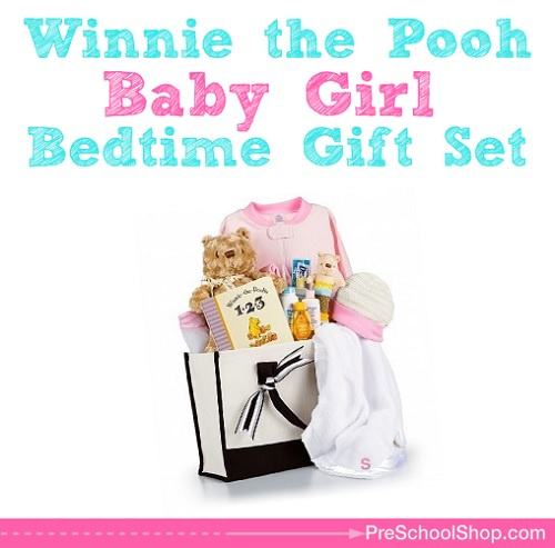 Winnie The Pooh Bedtime Gift Set For Newborn Baby Girls